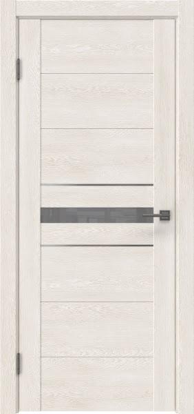Межкомнатная дверь GM003 (экошпон «белый дуб» / лакобель серый)