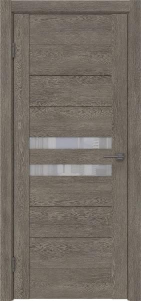 Межкомнатная дверь GM004 (экошпон «серый дуб» / лакобель белый)