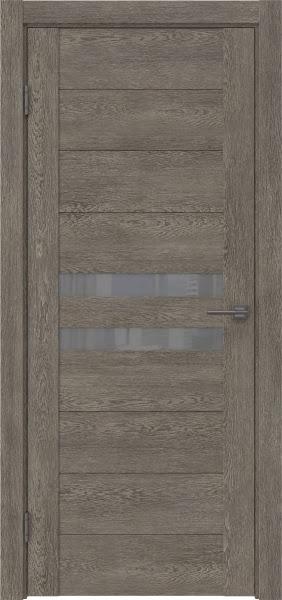 Межкомнатная дверь GM004 (экошпон «серый дуб» / лакобель серый)