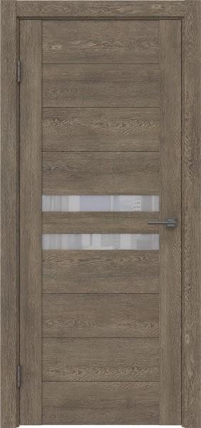 Межкомнатная дверь GM004 (экошпон «дуб антик» / лакобель белый)