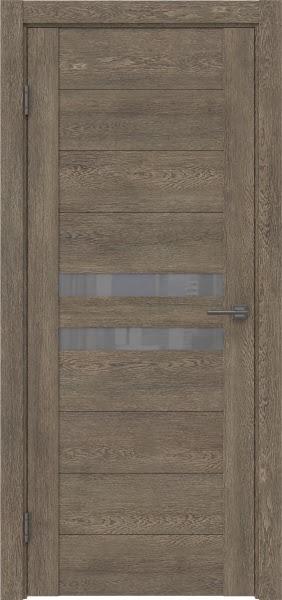Межкомнатная дверь GM004 (экошпон «дуб антик» / лакобель серый)