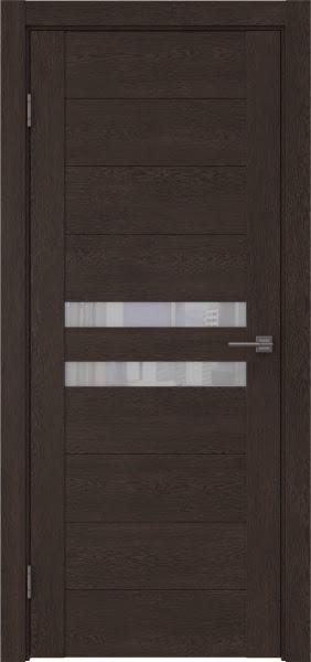 Межкомнатная дверь GM004 (экошпон «дуб шоколад» / лакобель белый)