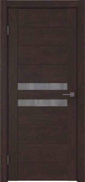 Межкомнатная дверь GM004 (экошпон «дуб шоколад» / лакобель серый)