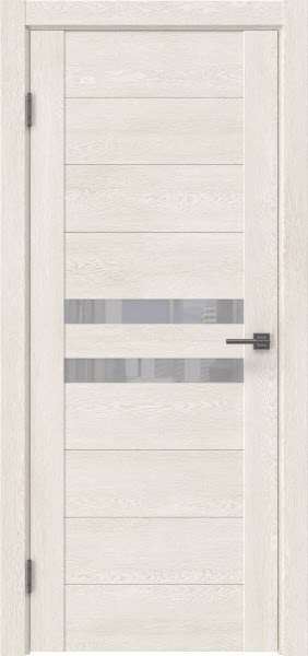 Межкомнатная дверь GM004 (экошпон «белый дуб» / лакобель белый)