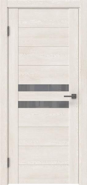 Межкомнатная дверь GM004 (экошпон «белый дуб» / лакобель серый)