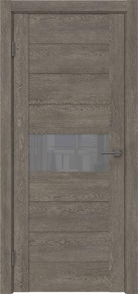 Межкомнатная дверь GM005 (экошпон «серый дуб» / лакобель серый)
