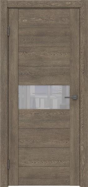 Межкомнатная дверь GM005 (экошпон «дуб антик» / лакобель белый)