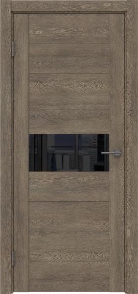 Межкомнатная дверь GM005 (экошпон «дуб антик» / лакобель черный)