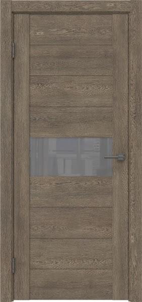Межкомнатная дверь GM005 (экошпон «дуб антик» / лакобель серый)