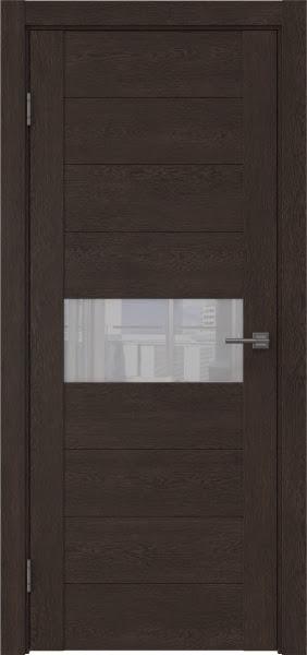 Межкомнатная дверь GM005 (экошпон «дуб шоколад» / лакобель белый)