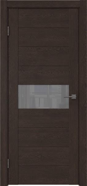 Межкомнатная дверь GM005 (экошпон «дуб шоколад» / лакобель серый)