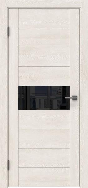 Межкомнатная дверь GM005 (экошпон «белый дуб» / лакобель черный)