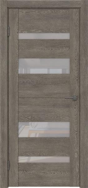 Межкомнатная дверь GM006 (экошпон «серый дуб» / лакобель белый)