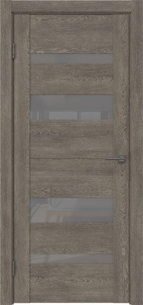 Межкомнатная дверь GM006 (экошпон «серый дуб» / лакобель серый)