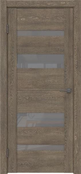 Межкомнатная дверь GM006 (экошпон «дуб антик» / лакобель серый)