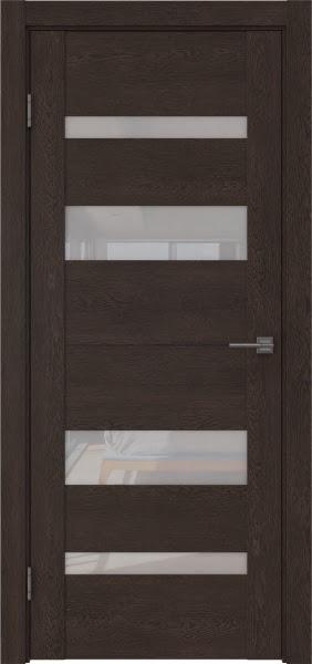 Межкомнатная дверь GM006 (экошпон «дуб шоколад» / лакобель белый)