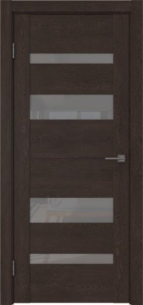 Межкомнатная дверь GM006 (экошпон «дуб шоколад» / лакобель серый)