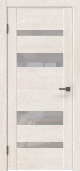 Межкомнатная дверь GM006 (экошпон «белый дуб» / лакобель белый)