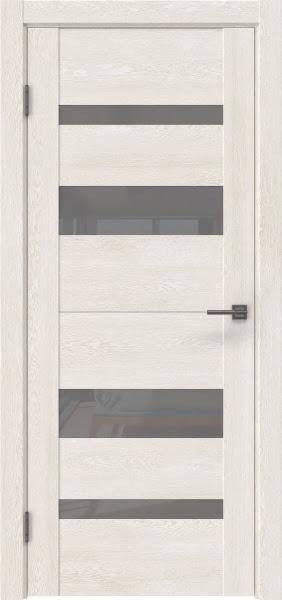 Межкомнатная дверь GM006 (экошпон «белый дуб» / лакобель серый)