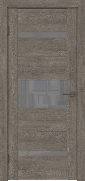 Межкомнатная дверь GM007 (экошпон «серый дуб» / лакобель серый)