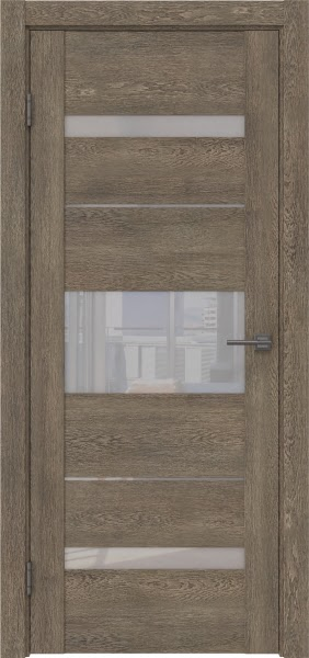 Межкомнатная дверь GM007 (экошпон «дуб антик» / лакобель белый)