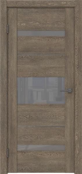 Межкомнатная дверь GM007 (экошпон «дуб антик» / лакобель серый)