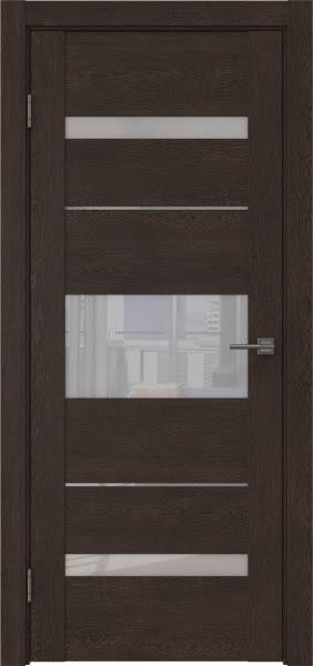 Межкомнатная дверь GM007 (экошпон «дуб шоколад» / лакобель белый)