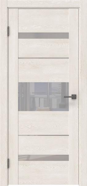 Межкомнатная дверь GM007 (экошпон «белый дуб» / лакобель белый)