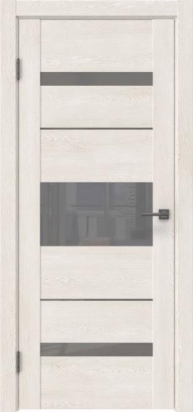 Межкомнатная дверь GM007 (экошпон «белый дуб» / лакобель серый)