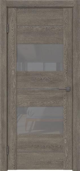 Межкомнатная дверь GM008 (экошпон «серый дуб» / лакобель серый)