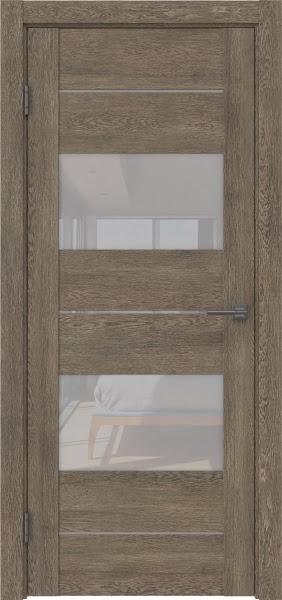 Межкомнатная дверь GM008 (экошпон «дуб антик» / лакобель белый)