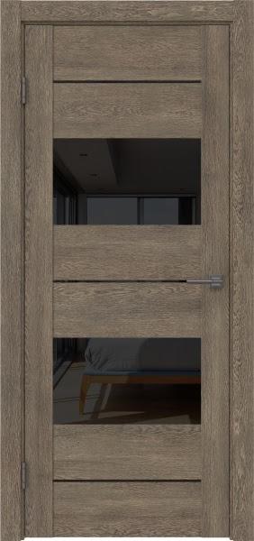 Межкомнатная дверь GM008 (экошпон «дуб антик» / лакобель черный)
