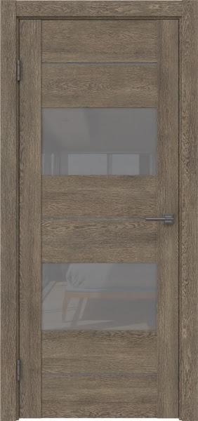 Межкомнатная дверь GM008 (экошпон «дуб антик» / лакобель серый)