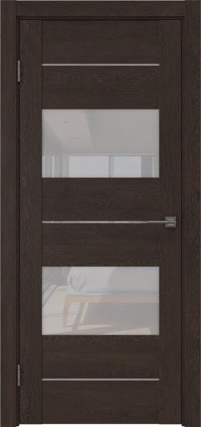 Межкомнатная дверь GM008 (экошпон «дуб шоколад» / лакобель белый)