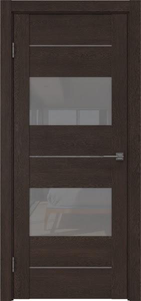Межкомнатная дверь GM008 (экошпон «дуб шоколад» / лакобель серый)