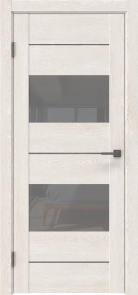 Межкомнатная дверь GM008 (экошпон «белый дуб» / лакобель серый)
