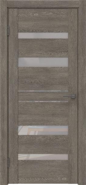 Межкомнатная дверь GM009 (экошпон «серый дуб» / лакобель белый)