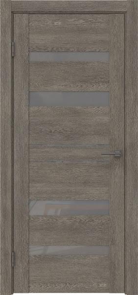 Межкомнатная дверь GM009 (экошпон «серый дуб» / лакобель серый)