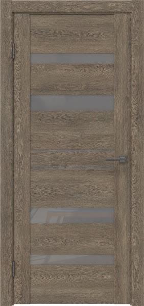 Межкомнатная дверь GM009 (экошпон «дуб антик» / лакобель серый)