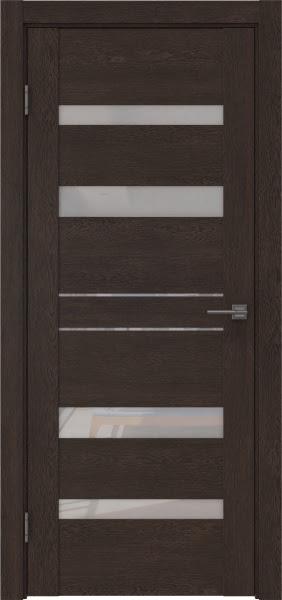 Межкомнатная дверь GM009 (экошпон «дуб шоколад» / лакобель белый)