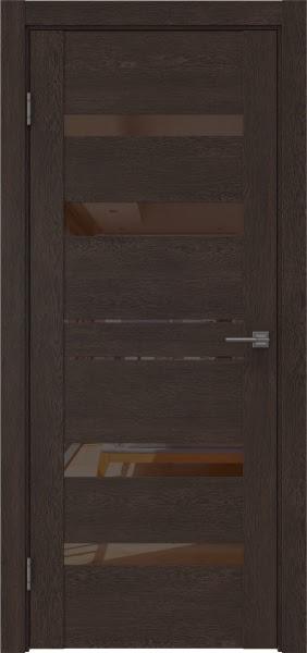 Межкомнатная дверь GM009 (экошпон «дуб шоколад» / лакобель коричневый)