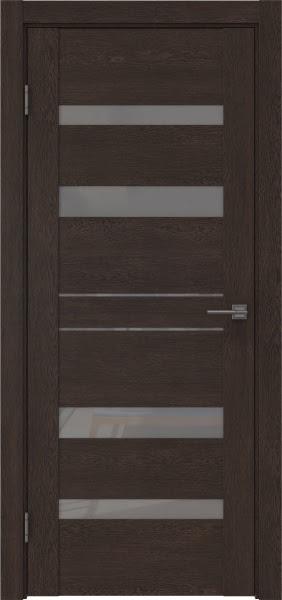 Межкомнатная дверь GM009 (экошпон «дуб шоколад» / лакобель серый)