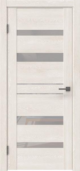 Межкомнатная дверь GM009 (экошпон «белый дуб» / лакобель белый)