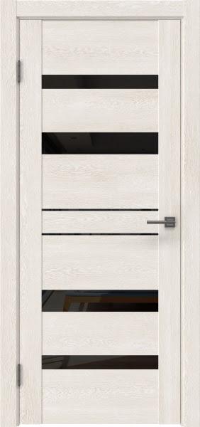 Межкомнатная дверь GM009 (экошпон «белый дуб» / лакобель черный)