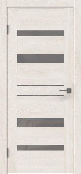 Межкомнатная дверь GM009 (экошпон «белый дуб» / лакобель серый)