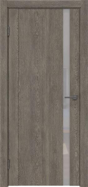 Межкомнатная дверь GM010 (экошпон «серый дуб» / лакобель белый)