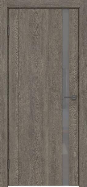 Межкомнатная дверь GM010 (экошпон «серый дуб» / лакобель серый)