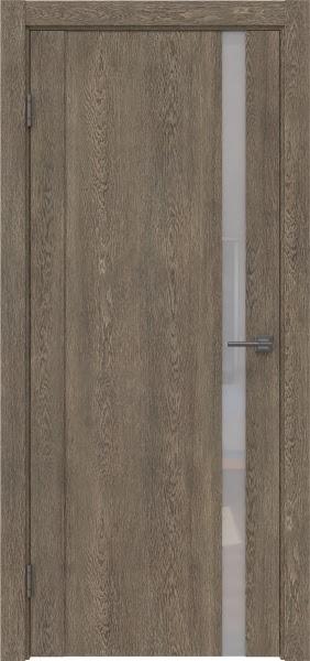 Межкомнатная дверь GM010 (экошпон «дуб антик» / лакобель белый)