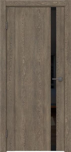 Межкомнатная дверь GM010 (экошпон «дуб антик» / лакобель черный)