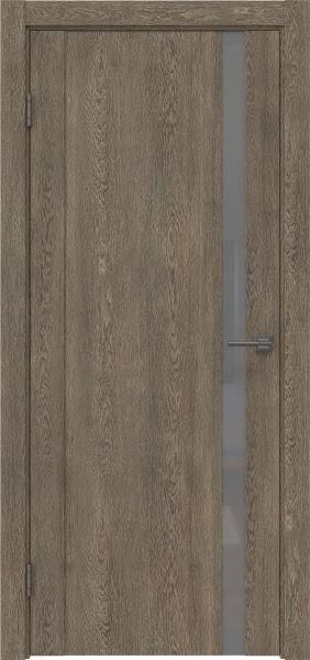 Межкомнатная дверь GM010 (экошпон «дуб антик» / лакобель серый)